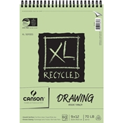 "C100510915 : Canson 9"" x 12"" XL Recycled Wirebound Drawing Pad - 60 Sheets"
