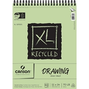 "C100510916 : Canson 11"" x 14"" XL Recycled Wirebound Drawing Pad- 60 Sheets"
