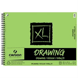 "C100510917 : Canson 18"" x 24"" XL Wirebound Drawing Pad"