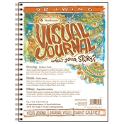 "9"" x 12"" Visual Journal Medium Surface Wirebound Drawing Book Drafting Paper and Drawing Media, Sketchbooks and Sketch Pads, 9"" x 12"" Visual Journal Medium Surface Wirebound Drawing Book"