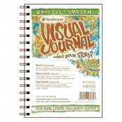 "5.5"" x 8"" Visual Journal Smooth Wirebound Bristol Book Drafting Paper and Drawing Media, Sketchbooks and Sketch Pads, 5.5"" x 8"" Visual Journal Smooth Wirebound Bristol Book"