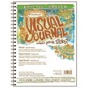 "9"" x 12"" Visual Journal Smooth Wirebound Bristol Book Drafting Paper and Drawing Media, Sketchbooks and Sketch Pads, 9"" x 12"" Visual Journal Smooth Wirebound Bristol Book"