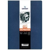 "C200006451 : Canson 8-3/10"" x 11-7/10"" Artbook Inspiration Stitchbound Books - Pack of 2, Color: Black and Dark Gray"