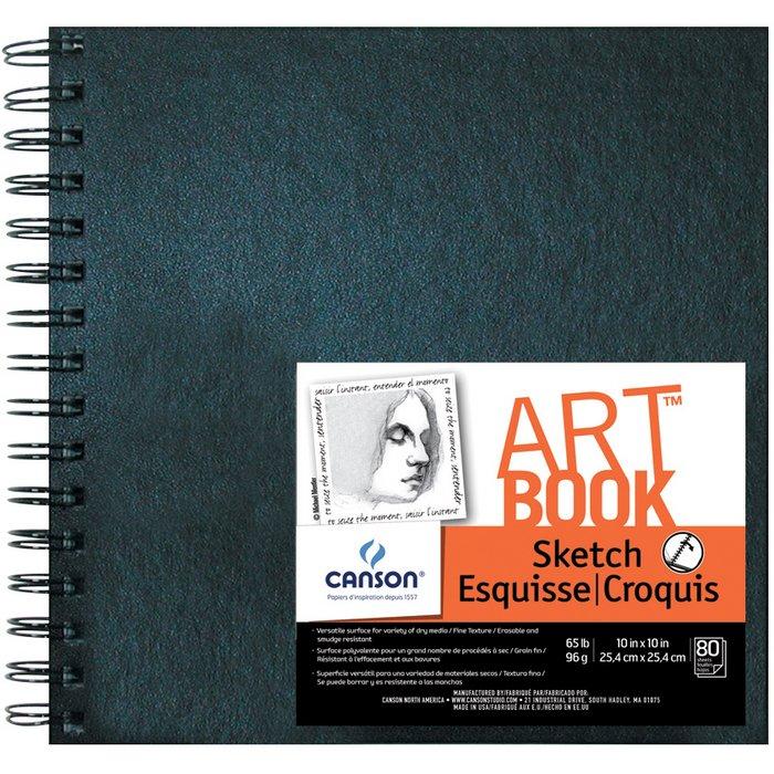Canson 10 x 10 artbook artist series wirebound sketchbook c100510436 canson 10 x 10 artbook artist series wirebound sketchbook malvernweather Image collections