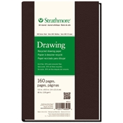 "5.5"" x 8.5"" 400 Series Sewn Bound Recycled Drawing Art Journal Drafting Paper and Drawing Media, Sketchbooks and Sketch Pads, 5.5"" x 8.5"" 400 Series Sewn Bound Recycled Drawing Art Journal"