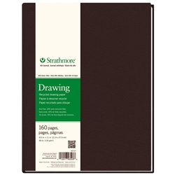 "8.5"" x 11"" 400 Series Sewn Bound Recycled Drawing Art Journal Drafting Paper and Drawing Media, Sketchbooks and Sketch Pads, 8.5"" x 11"" 400 Series Sewn Bound Recycled Drawing Art Journal"