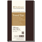 "5.5"" x 8.5"" 400 Series Sewn Bound Toned Tan Sketch Art Journal Drafting Paper and Drawing Media, Sketchbooks and Sketch Pads, 5.5"" x 8.5"" 400 Series Sewn Bound Toned Tan Sketch Art Journal"