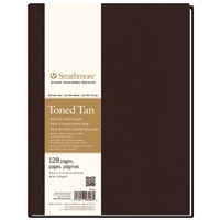 "8.5"" x 11"" 400 Series Sewn Bound Toned Tan Sketch Art Journal Drafting Paper and Drawing Media, Sketchbooks and Sketch Pads, 8.5"" x 11"" 400 Series Sewn Bound Toned Tan Sketch Art Journal"