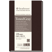 "5.5"" x 8.5"" 400 Series Sewn Bound Toned Gray Sketch Art Journal Drafting Paper and Drawing Media, Sketchbooks and Sketch Pads, 5.5"" x 8.5"" 400 Series Sewn Bound Toned Gray Sketch Art Journal"