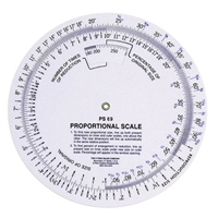 "C-THRU 5"" Proportional Scale Drafting Supplies, Ruling and Measuring Tools, Proportional Scales"
