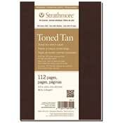 "5.5"" x 8"" 400 Series Soft Cover Toned Tan Sketch Journal Drafting Paper and Drawing Media, Sketchbooks and Sketch Pads, 5.5"" x 8"" 400 Series Soft Cover Toned Tan Sketch Journal"