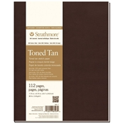 "7.75"" x 9.75"" 400 Series Soft Cover Toned Tan Sketch Journal Drafting Paper and Drawing Media, Sketchbooks and Sketch Pads, 7.75"" x 9.75"" 400 Series Soft Cover Toned Tan Sketch Journal"