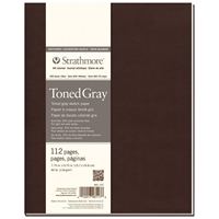 "7.75"" x 9.75"" 400 Series Soft Cover Toned Gray Sketch Journal Drafting Paper and Drawing Media, Sketchbooks and Sketch Pads, 7.75"" x 9.75"" 400 Series Soft Cover Toned Gray Sketch Journal"
