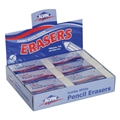 Jumbo White Vinyl Erasers - Box of 12