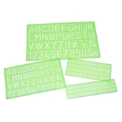 Lettering Stencil Template 4-Piece Set