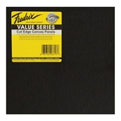 "M561 : Fredrix 8"" x 8"" Value Series Black Canvas Panels 25-Pack"