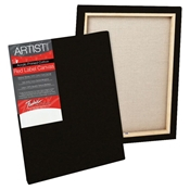 "M561 : Fredrix Red Label 18"" x 24"" Standard Stretched Black Canvas"