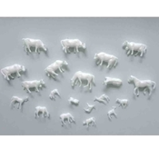 WS00354 : Wee Scapes Architectural Model Animal Figures 20-Pack
