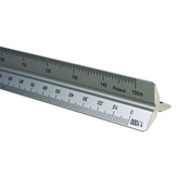 30cm Aluminum Metric Triangular Scale