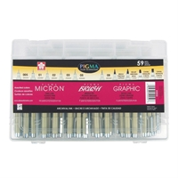 59-Piece Artist Gift Set Art Supplies, Art Markers, Drawing and Sketching Markers, Pigma Micron Fine Line Design Pens