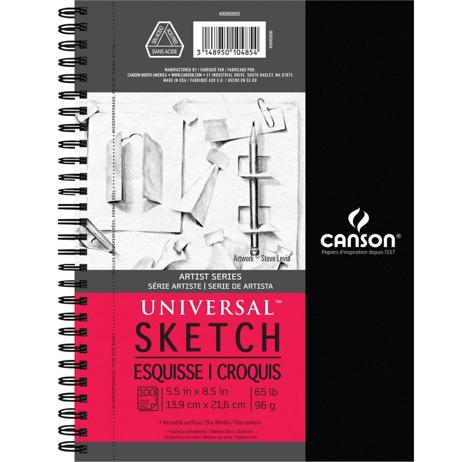 5.5 x 8.5 Artist Series Universal Sketch Wire Bound Pads Size