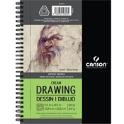 "5.5"" x 8.5"" Artist Series Classic Cream Drawing Paper Drafting Paper and Drawing Media, Sketchbooks and Sketch Pads, 5-1/2"" x 8-1/2"" Artist Series Classic Cream Drawing Paper"