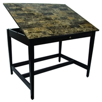 "36"" x 48"" Vanguard Drawing Table with Marble Look Top"