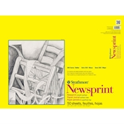 "18"" x 24"" 300 Series Smooth Newsprint Pad Drafting Paper and Drawing Media, Sketchbooks and Sketch Pads, Newsprint"