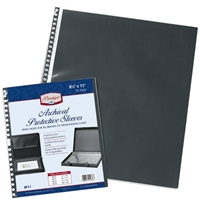 "8.5"" x 11"" Archival Protective Sleeves - 10 Pack Drafting Supplies, Portfolios and Cases, Presentation Cases and Binders, Alvin Archival Presentation Sleeves"
