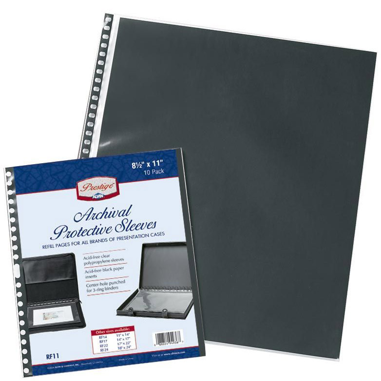 alvin 11 x 17 digital archival protective sleeves 10 pack rf11ds