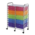 15-Drawer Multi-Colored Storage Cart