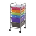 6-Drawer Multi-Colored Storage Cart