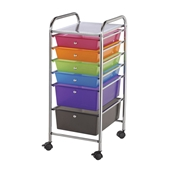 SC6MC : Blue Hills Studio 6-Drawer Multi-Colored Storage Cart