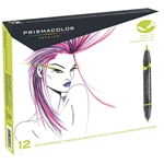 SN1773297 : Sanford Prismacolor Brush Marker 12-Color Primary / Secondary Set