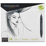 SN1773300 : Sanford Prismacolor Brush Marker 12-Color French Grey Set