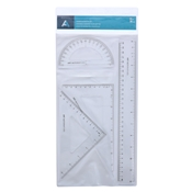 "12"" Ruler & Geometry Set"