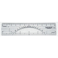 "C-THRU 6"" Protractor Ruler - 10 & 20 Parts to Inch"