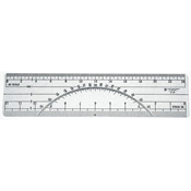 "C-THRU 6"" Protractor Ruler - 20 & 40 Parts to Inch"