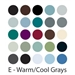 Warm/Cool Greys - Set of 25 AD Markers - SETE