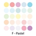 Pastels - Set of 25 AD Markers - SETF