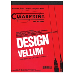 8.5 x 11 Vellum Pad 1000HP - 50 Sheet (NO Grid)