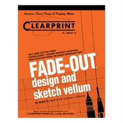 8.5 x 11 Vellum Pad 1000HP-10 - 50 Sheet