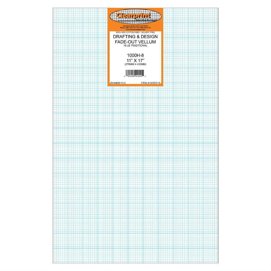 clearprint vellum 1000h 8 11 x 17 100 sheets 1020 2516