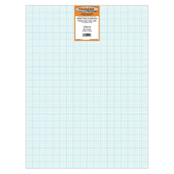 18 x 24 Vellum Sheets 1000H-8 - 8x8 Grid