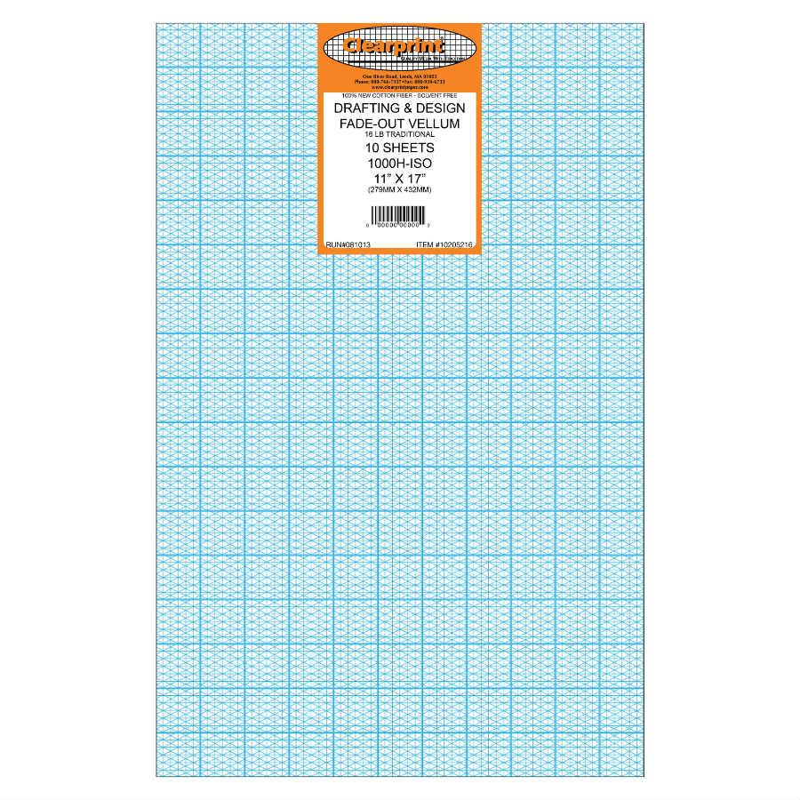 Clearprint Vellum 1000h Iso 11 X 17 100 Sheets 1020 5516