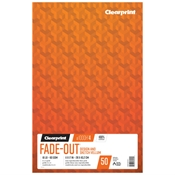 "11"" x 17 "" Fade-Out Design Vellum with 4x4 Grid - 50 Sheet Pad"