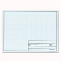 17 x 22 Vellum Sheets 1000HTS-10 - 10x10 Grid with Title Block