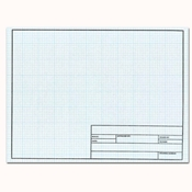 11 x 17 Vellum Sheets 1000HTS-8 - 8x8 Grid with Title Block