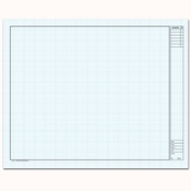 18 x 24 Vellum 1000HTSA-8 - 8x8 Grid with Architectural Title Block