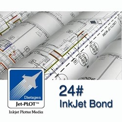 "22"" x 150 Rolls - 24lb. Inkjet Bond - 2"" Core - Carton of 4"